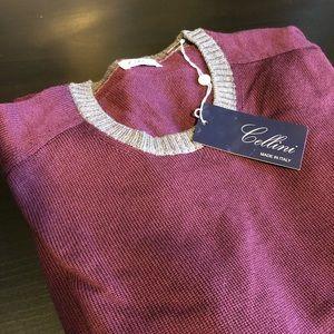 Cellini Italian Wool Plum Sweater 56
